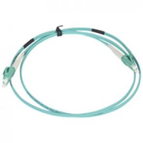 Patch cord fibre optic - OM 4 multimodules (50/125 μm) - LC/LC duplex - 1 m