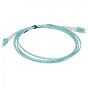 Patch cord fibre optic - OM 4 multimodules (50/125 μm) - LC/LC duplex - 2 m