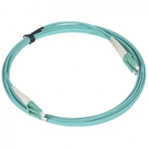 Patch cord fibre optic - OM 4 multimodules (50/125 μm) - LC/LC duplex - 3 m