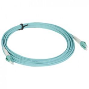 Patch cord fibre optic - OM 4 multimodules (50/125 μm) - LC/LC duplex - 5 m