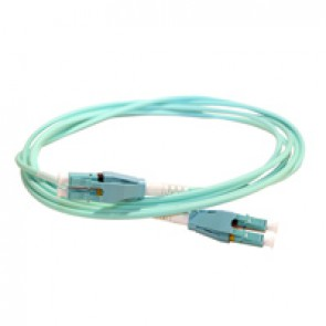 Patch cord fibre optic LCS³ - OM4 multimode (50/125µm) - LC/LC Uniboot duplex - reversible polarity - 1 m
