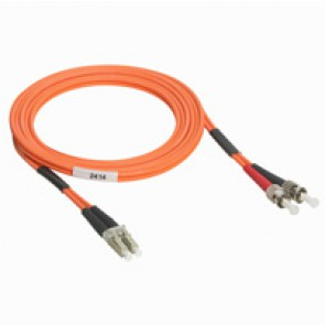 Patch cord fibre optic - OM 2 multimodules (50/125 μm) - LC/ST duplex - 2 m