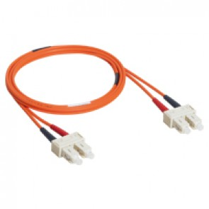 Patch cord fibre optic - OM 2 multimodules (50/125 μm) - SC/SC duplex - 1 m