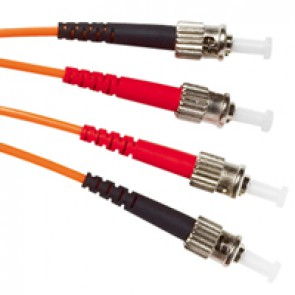 Patch cord fibre optic - OM 2 multimodules (50/125 μm) - ST/ST duplex - 1 m