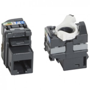 Keystone RJ 45 socket - category 5e - UTP - fast crimping connection