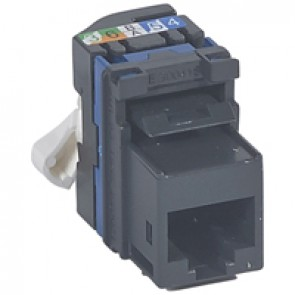 Keystone RJ 45 socket LCS² - category 6 - UTP - fast connection