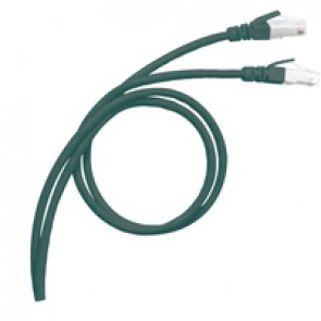 LCS³ RJ 45 patch cords - Cat.8 S/FTP shielded - impedance 100 ohms - length 0.5 m - LSZH RAL 3020