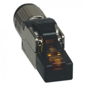 On field RJ45 plug category 6A STP toolless