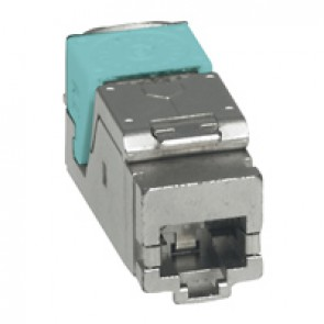 Set of 6 RJ 45 connectors for flat and angled STP panel LCS³