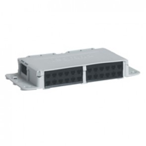 Zone distribution box - to be equipped with up to 24 RJ 45 connectors