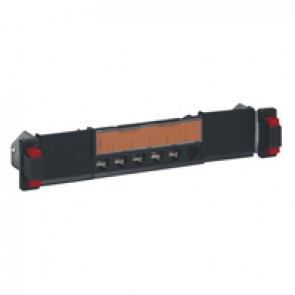 Flat patch panel 10 inch 1U to be equipped with 6 category 5e to category 8 RJ 45 connectors