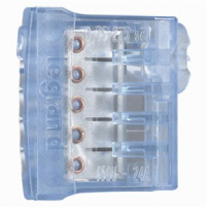 Screwless connection terminal Nylbloc auto - for 5 wires - 24 A - 450 V~