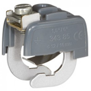 Equipotential bonding connector - busbar system from Ø 18 to 22 mm