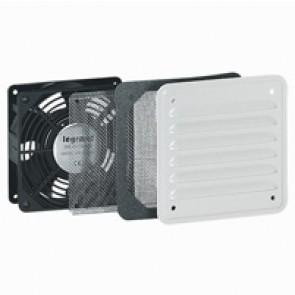 Ventilator with metal louvre - IP32 - IK10 - 30/160 mᄈ/h - RAL 7035
