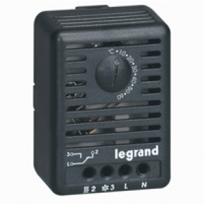 Room thermostat - for enclosure heating - 12 to 250 V~