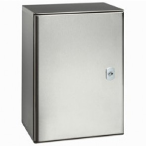 Atlantic stainless steel cabinet 304L - vertical version with 1 metal door and external dimensions 600x400x200 mm