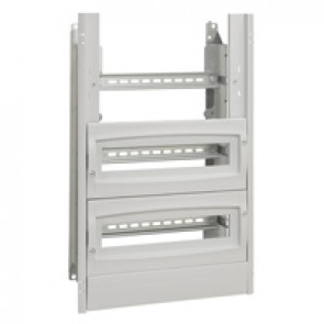 Chassis with insulating faceplate - 700x500x250 mm - with 1 blanking plate