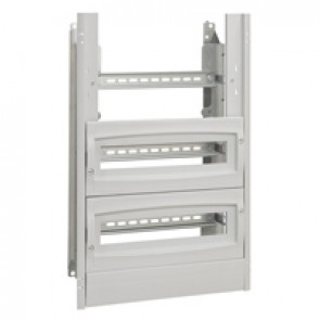 Chassis with insulating faceplate - 800x600x300 mm - with 2 blanking plates