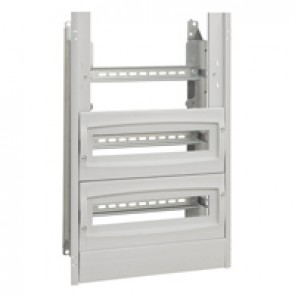 Chassis with insulating faceplate - 1200x800x300 mm - with 2 blanking plates