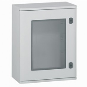 Cabinet Marina - polyester with glass door - IP66 - IK10 - 610x400x257 mm