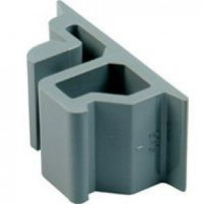 Adaptor - for mounting on asymmetrical rail equipment fitting on sym. rail