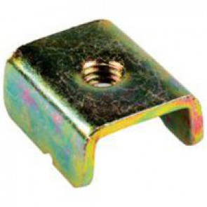 Stirrup - for fixing equipment on C profile rail - for M6 screw