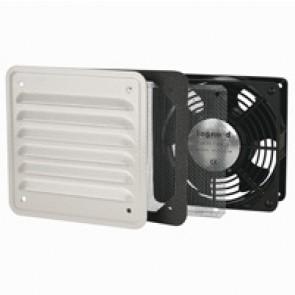 Ventilator with metal louvre - IP32 - IK10 - 30/160 mᄈ/h - RAL 7032