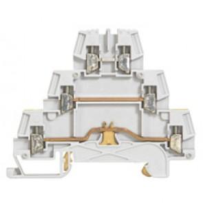 Terminal block Viking 3 -screw -metal base -3 connect on 3 levels -pitch 5 -grey