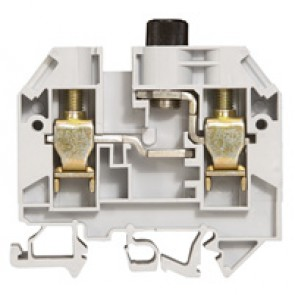 Terminal block Viking 3 - screw - 1 connect - for cartridge 5x20 - pitch 6