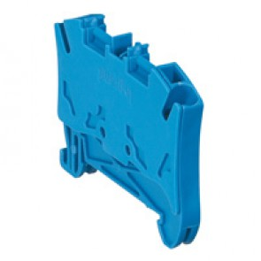 Terminal block Viking 3 - spring - 1 connect - 1 entry/1 outlet - pitch 5 - blue