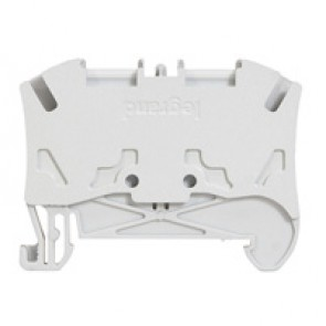Terminal block Viking 3 - spring - 1 connect - 1 entry/1 outlet - pitch 6 - grey