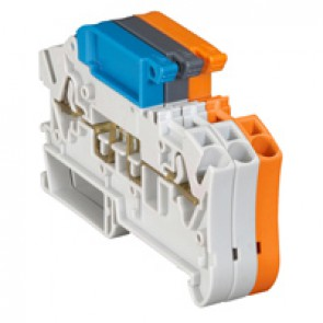 Terminal block Viking3 -spring -disconnect -fr circuit not broken w handle lever