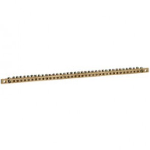 Brass bar with holes for protective conductor - for XL³ 400 - L. 456 mm
