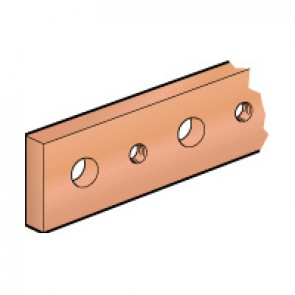 Copper bar - flat rigid - section 25 x 5 mm - 270 to 330 A - L. 1750 mm
