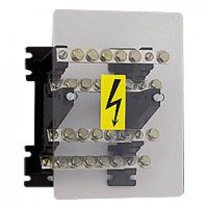 Power distribution block - stepped for lugs - 125 A - 4 bars 15 x 4 mm