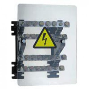 Power distribution block - stepped for lugs - 160 A - 4 bars 18 x 4 mm