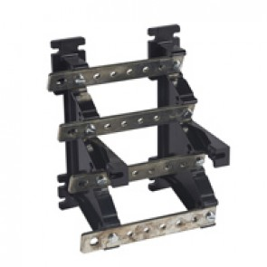 Power distribution block - stepped for lugs - 250 A - 4 bars 25 x 4 mm