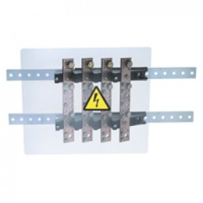Power distribution block - stepped for lugs - 400 A - 4 bars 32 x 5 mm