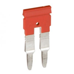 Bridging combs Viking 3 - equipotential - for 2 blocks with 5 mm pitch - red