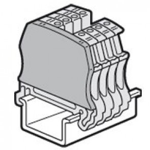 End cap Viking 3 -fr screw terminal blocks 1 entry/1 outlet -pitch 5,6,8 and 10