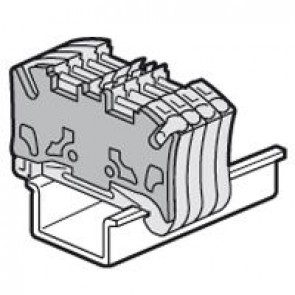 End cap Viking 3 - fr spring terminal blocks - pitch 5 - 1 entry/1 outlet