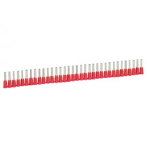 Ferrules in strips Starfix - cross section 1 mm² - red