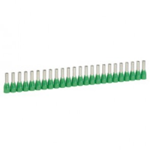 Ferrules in strips Starfix - cross section 6 mm² - green