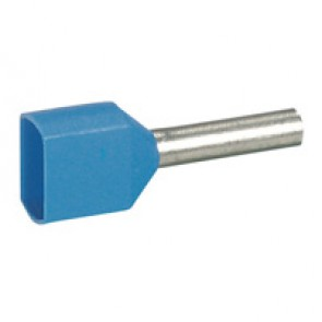 Ferrules Starfix - doubles individuals - cross section 2 x 0.75 mm² - blue