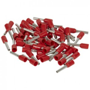 Ferrules Starfix - simples individuals - cross section 1 mm² - red