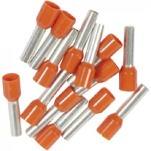 Ferrules Starfix - simples individuals - cross section 4 mm² - orange