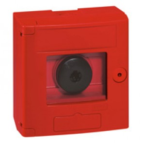 Break glass emergency box-2 position-surface mounting-IP44-red box without LED