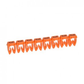 Marker CAB 3 - for wiring 0.15 to 0.5 mm² - number 3 - orange