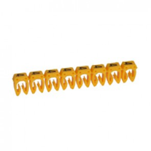 Marker CAB 3 - for wiring 0.15 to 0.5 mm² - number 4 - yellow