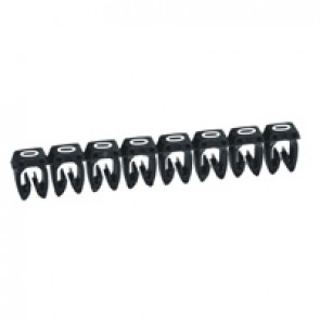 Marker CAB 3 - for wiring 0.5 to 1.5 mm² - number 0 - black
